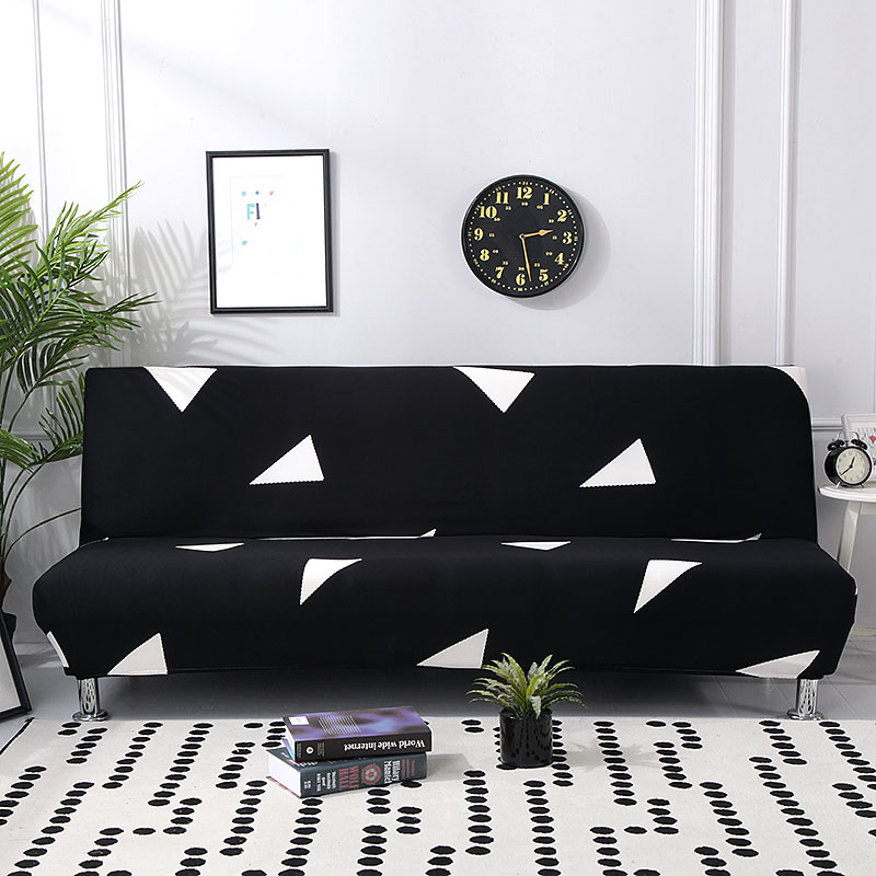 Black Plaid Sofa Cover Stretch Furniture Covers Removable Sofa Covers For Living Room White Armless Slipcover Sofa Bed Cover 1PC