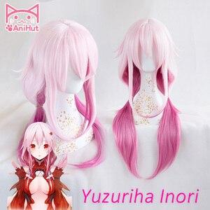 Image 1 - 【Anihut】yuzuriha Inori Pruik Gulity Crown Cosplay Pruik Roze Synthetisch Haar Anime Gulity Crown Yuzuriha Inori Cosplay Haar