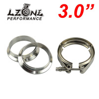 LZONE RACING 3 V Band Clamp Flange Kit Stainless Steel 304 Clamp SUS304 Flange For Turbo