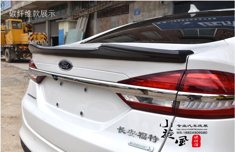 Carbon Fiber Car Rear Wing Trunk Spoiler For Ford Mondeo Fusion 2017 2016 By Ems Mustang Style