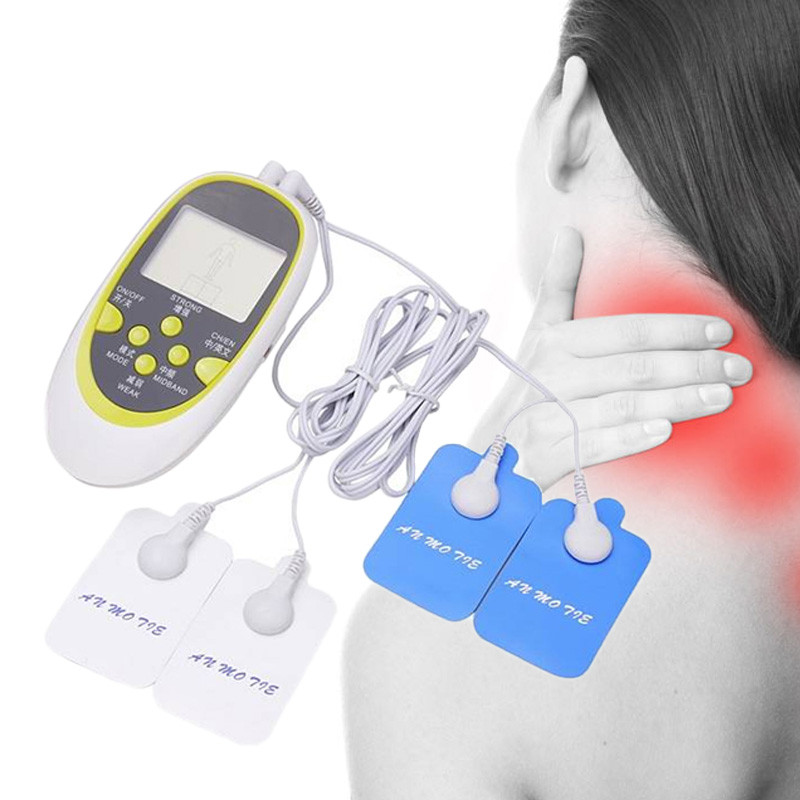 Electronic Physiotherapy Acupuncture Massager Dual Output Digital Therapy Machine Full Body Neck Relaxation Electrode Pad LCD 2017 hot sale mini electric massager digital pulse therapy muscle full body massager silver