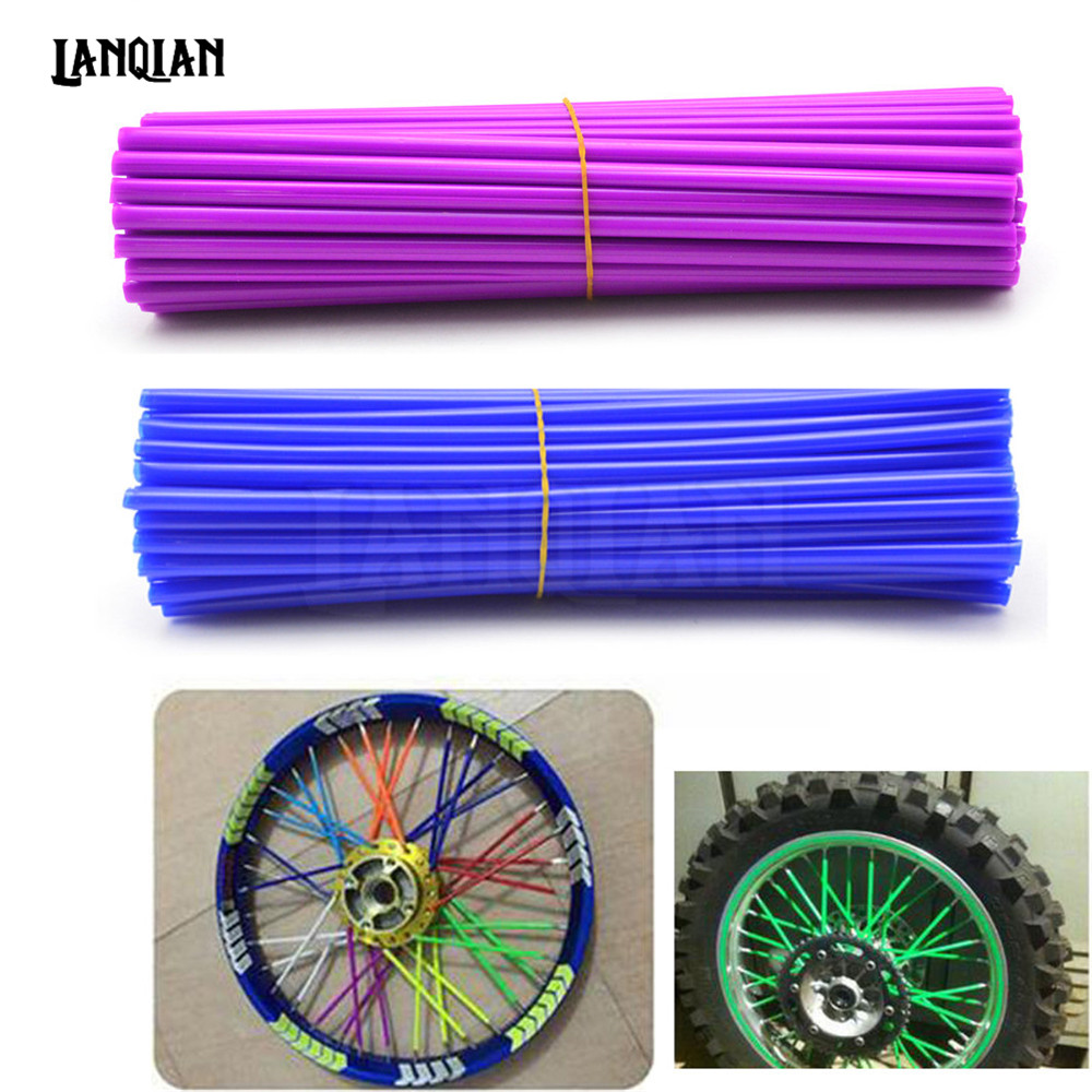 Motocross Spoke Skins Wheel Rim Spoke Covers For ktm EXC SX XC SIX DAYS XC-W SX-F XCF-W <font><b>DR</b></font> DRZ RM RMX RMZ 85 125 250 400 450 image