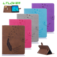 Tablet Case For Samsung Galaxy Tab A 8 0 T350 T355 Leather Smart Stand Feather Bird