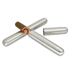 Portable Stainless Steel Single Cigar Tube/Box Metal Frosted High Quality Accessories Birthday Gift