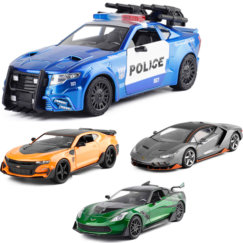 JADA 1:24 High Simulation Diecast Transformation Car Alloy Model Models Yellow Bee Crosshair Hot Rod Children Vehicle Toys Gifts