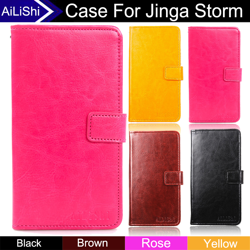 AiLiShi Factory Direct! Case For Jinga Storm Luxury Flip New PU Leather Case Cover Phone Bag Wallet Card Slot+Tracking In Stock