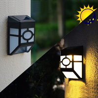 4pcs Solar Power LED Path Way Wall Landscape Mount Garden Fence Outdoor Lamp Light Water Resistant