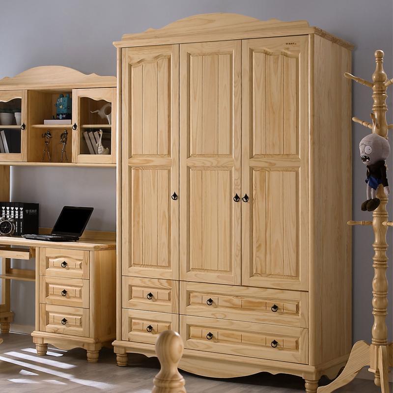 Bedroom Furniture Manufacturers List: All Solid Wood Bedroom Furniture Pine Wardrobe Three