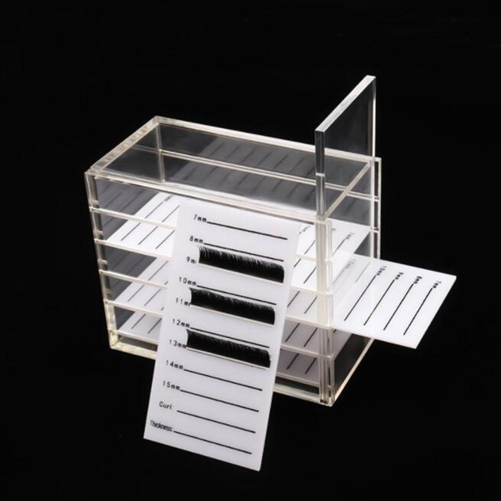 5 camadas recipiente de exibicao caixa de armazenamento de cilios extensao cilios cola pallet titular para