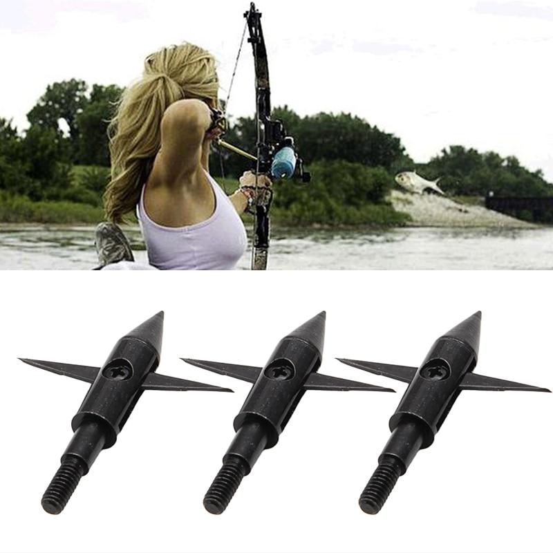 3 Pcs Aluminium Hunting Arrow Tips Boardhead Archery Arrowhead Target Points