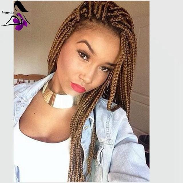 Hot Selling Synthetic Braiding Hair Wig Kanekalon Box Braided Lace