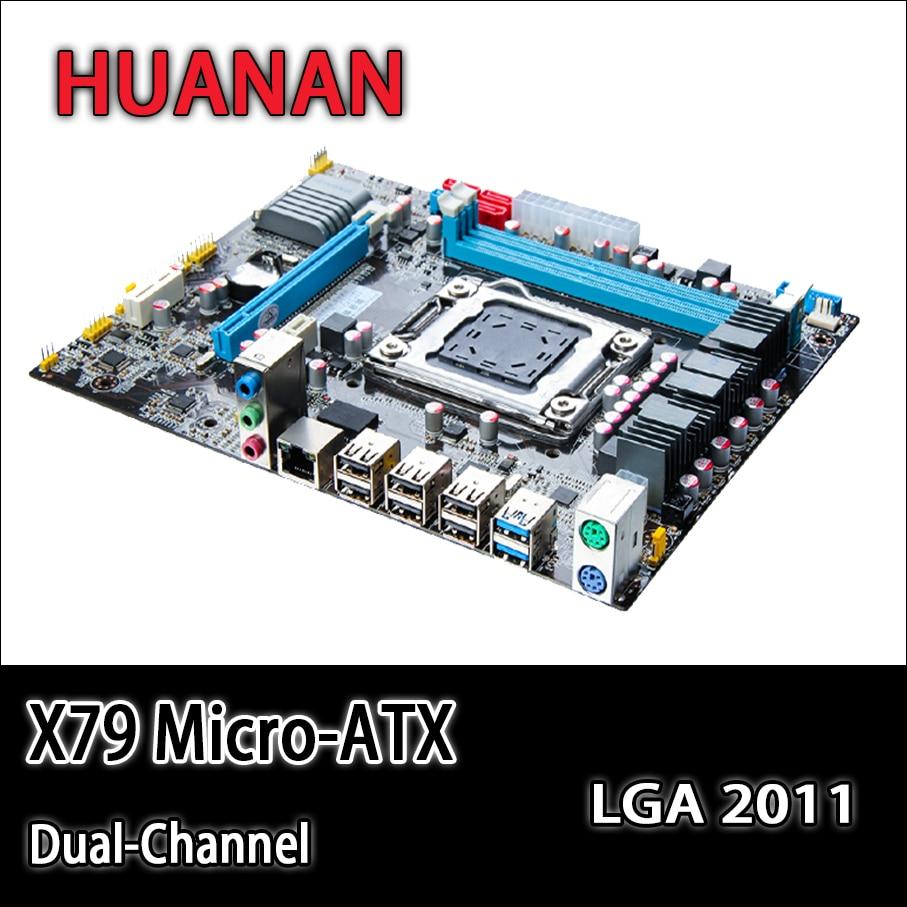 HUANAN golden X79 motherboard micro-ATX X79 LGA 2011 motherboard mainboard support REG ECC 2 double channels CPU DDR3 RAM new motherboard x79 support e5 2660 2670 ecc ram 4 ram slots 64g lga 2011 ddr3 atx mainboard desktop motherboard