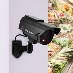 Image 4 - الطاقة الشمسية وهمية وهمية الأمن الأحمر LED CCTV كاميرا بجهاز اقتران الشحنات مراقبة المتغيرات