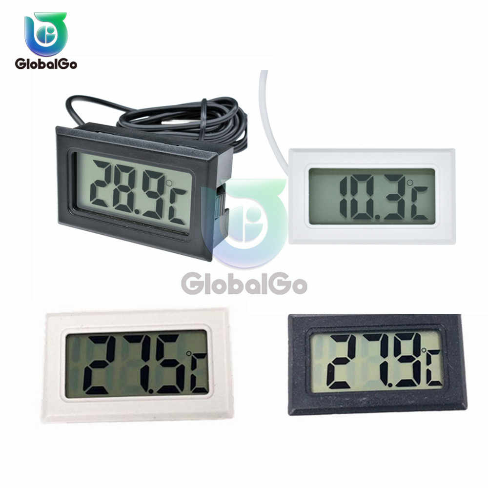 Mini Digital LCD Thermometer Sensor Temperature Meter Thermometer Thermograph Fridge Freezer For Aquarium Refrigerator DIY Kit