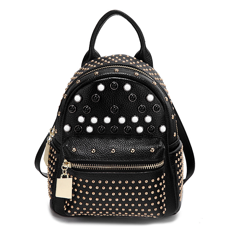 2018 New Fashion PU Leather Rivet Women Backpack Mini Ladies Bag School Bags for Teengager Girls Feminime Backpack mochila  S154