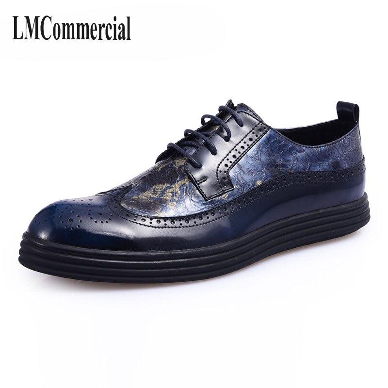 Bullock nowy jesień zima brytyjska retro zamek skórzane buty oddychające buty sneaker moda mężczyźni buty w stylu casual, ręcznie robione w Męskie nieformalne buty od Buty na  Grupa 1