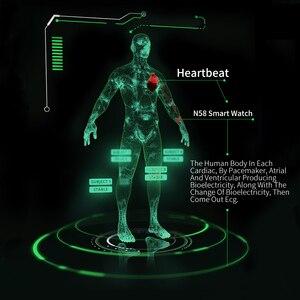 Image 3 - RUNDOING N58 ECG EKG PPG smart watch con ECG display PPG holter ecg heart rate monitor di pressione sanguigna smartwatch