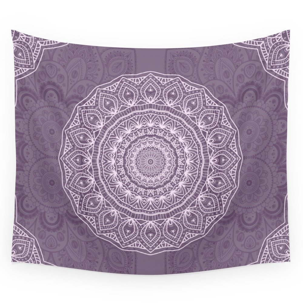 White Lace On Lavender Wall Tapestry Cover Beach Towel Throw Blanket Picnic Yoga Mat Home Decoration