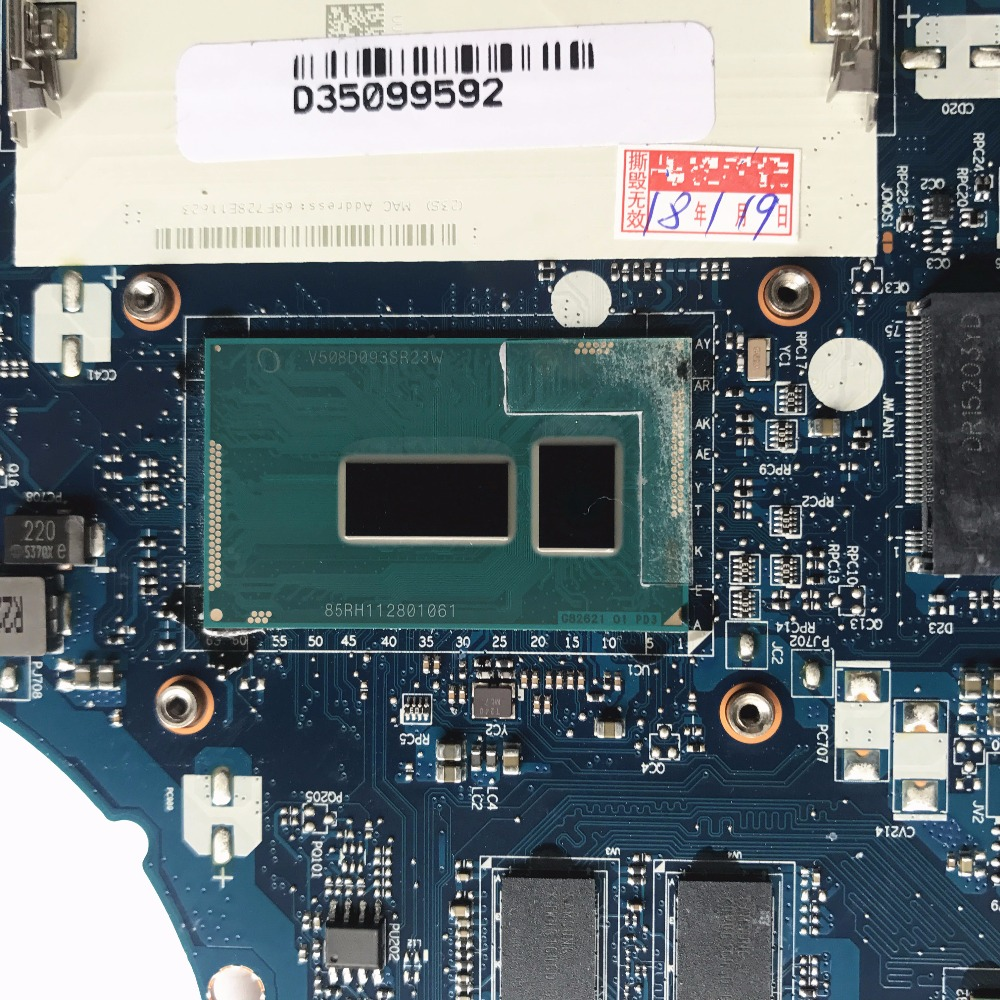 Reboto For Lenovo G50 80 Laptop Motherboard With I7 5500U 2.4GHz CPU R5 M330 2GB 5B20H14391 ACLU3/ACLU4 NM A361 MB 100% Tested-in Motherboards from Computer & Office    2