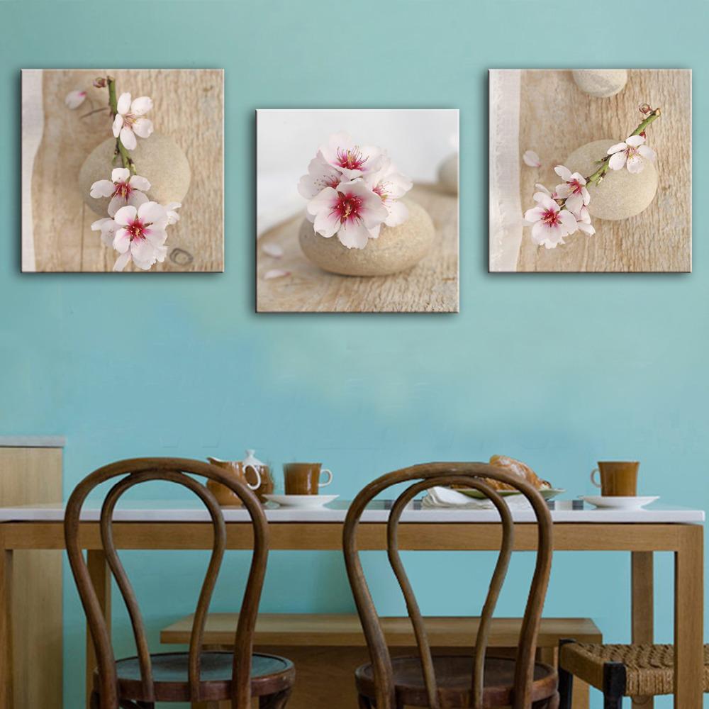 ehome piedras y flor de la decoracin de pintura al leo decoracin para el