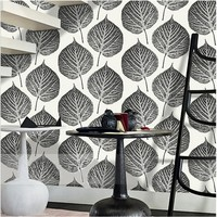 Free Shipping Modern Bodhi Big Leaves Living Room TV Background Wallpaper Nordic Style Bar Hotel Features