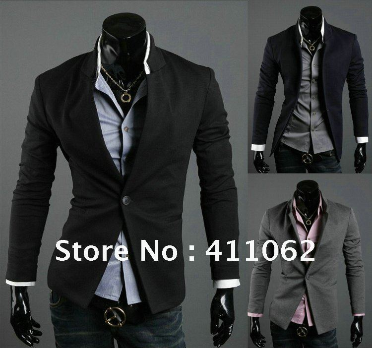 NWT Brand New Men's Casual Slim Sexy One Button Dress Suit Sports ...