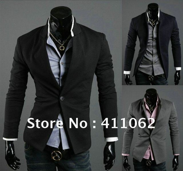 7c0c581a4 NWT Brand New Men's Casual Slim Sexy One Button Dress Suit Sports Jacket  Blazer Coat Top Outerwear Korean Free Shipping