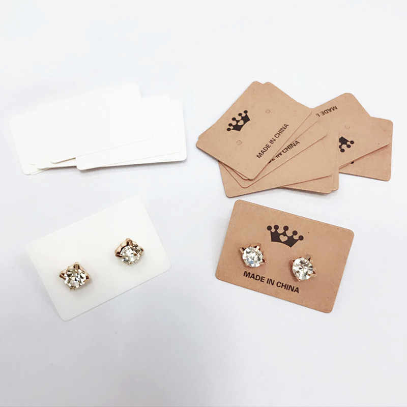 Ear Studs Card Hang Tags Love Jewelry Ng Display Necklace Hairpin Earring Cards Marking Label Pendant