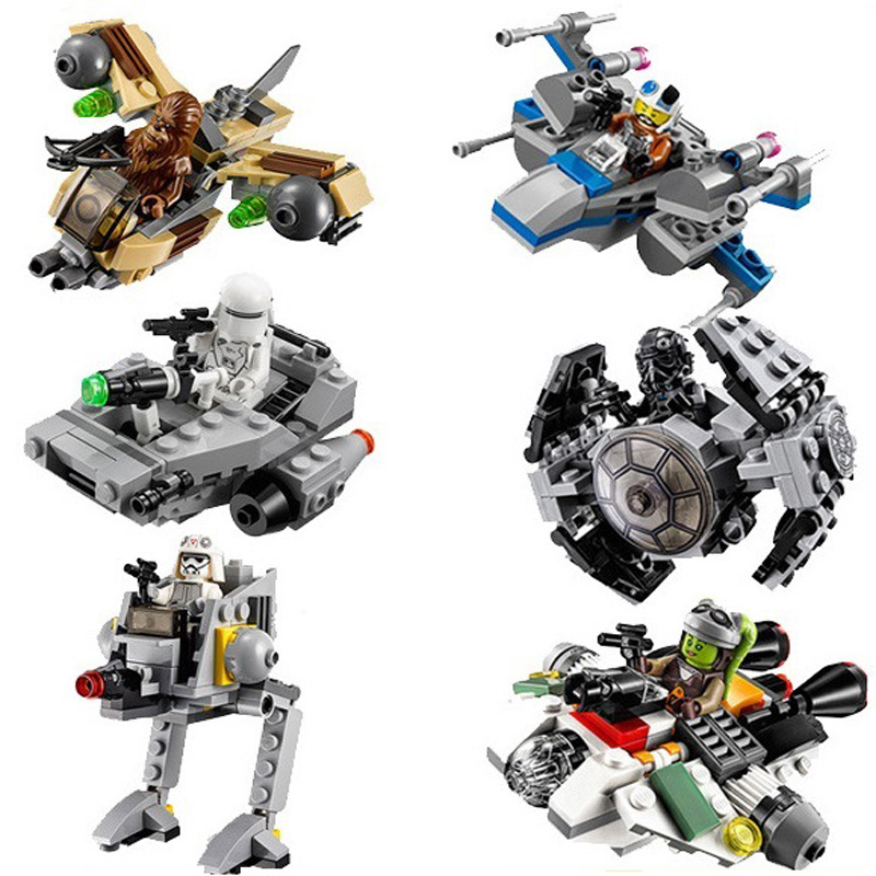 2018 New LEPIN Bricks 1pcs Star Wars Microfighters Building Blocks Compatible With Starwars Sets Toy for Children dhl new lepin 06039 1351pcs ninja samurai x desert cave chaos nya lloyd pythor building bricks blocks toys compatible 70596
