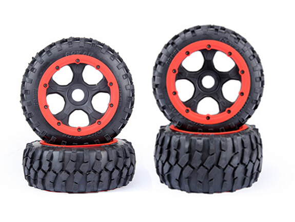 Four generation wheel hub gravel front and rear tire assembly for 1/5 hpi rovan km baja 5b rc car parts metal baja 5t wheel hub set two rear and two front wheels and beadlocks for 1 5 hpi baja 5t parts rovan km