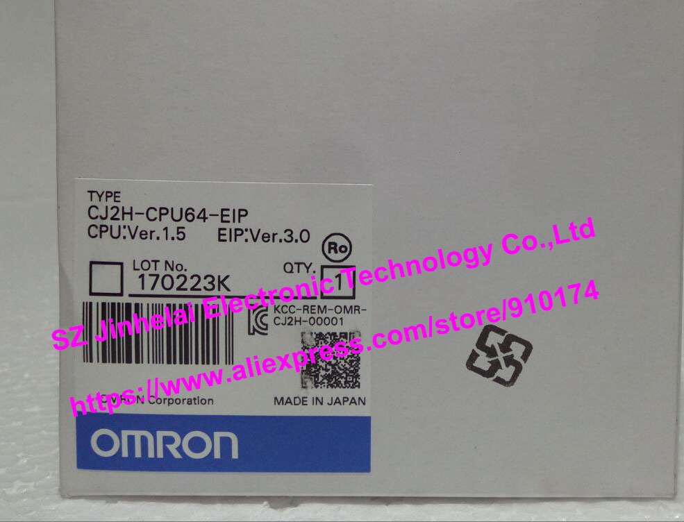 New and original CJ2H-CPU64-EIP OMRON CPU UNIT [zob] 100% brand new original authentic omron omron photoelectric switch e2s q23 1m 2pcs lot