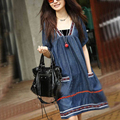 Plus Size Denim Maternity Dress Clothes For Pregnant Women Dresses For Pregnancy Summer Clothing Fashion 2015 New