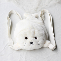 Cartoon Plush Bear Bag Backpack Anime Plush Bags Shoulder Bag Teenage Girls College Students Halloween Valentine Gift 40B0027