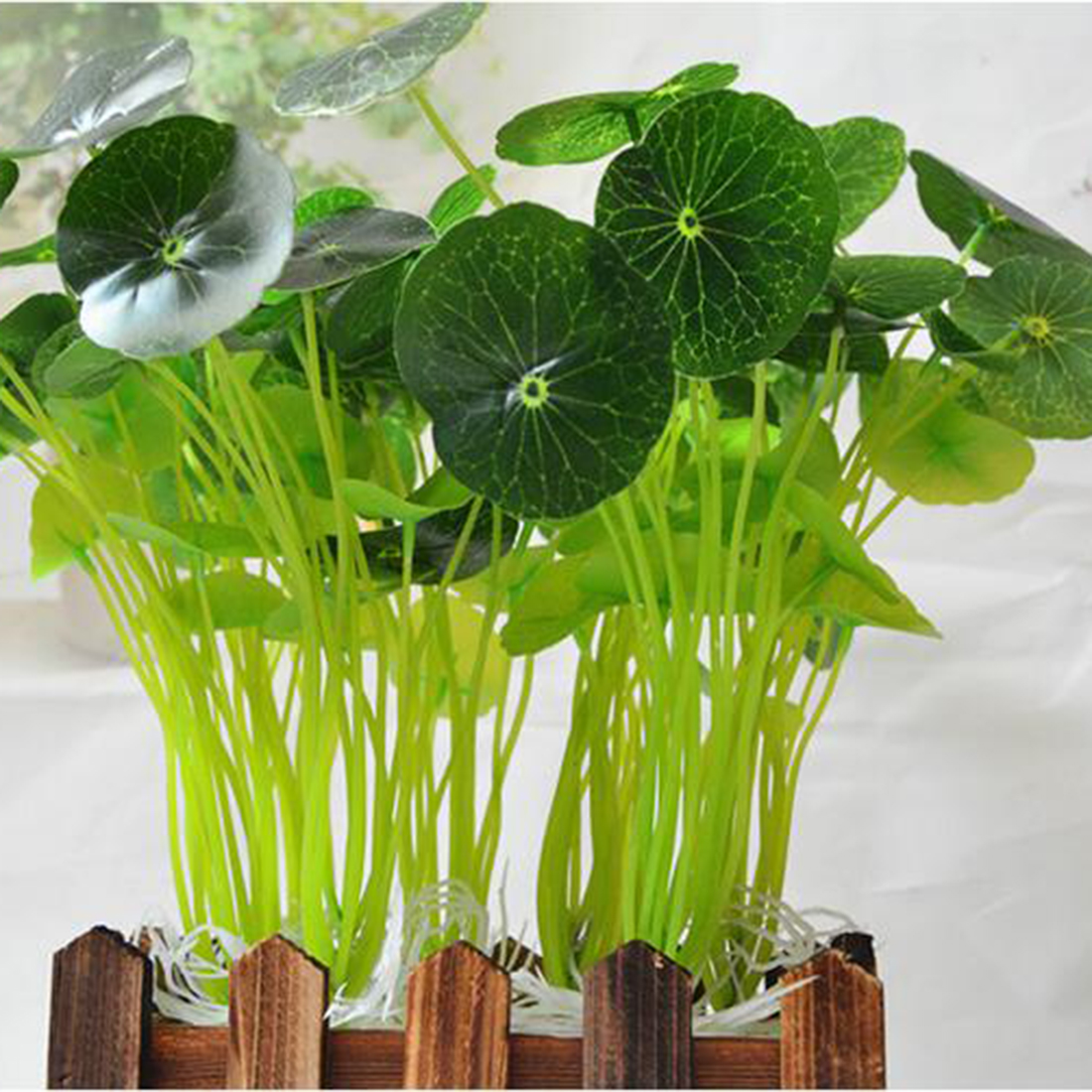 New 12 Heads Artificial Fake Lotus Leaves Grass Home Office Table Green Fresh Decoration Supply Grass Bouquets Drop Shipping ...