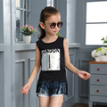 Children's Garment Girl Solid Color Rendering Upper Garment New Pattern Korean Summer Child T-shirt Girl Kids Clothing