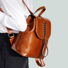OZUKO металлический женский рюкзак с заклепками из натуральной кожи Ретро Школьные сумки для подростков дизайнерский рюкзак для ноутбука студентов