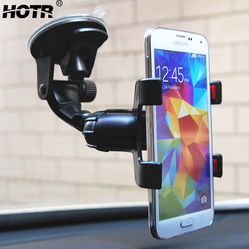 Универсальный автомобильный держатель для телефона на лобовое стекло, держатель для телефона, 360 вращающихся силиконовых гелевых подушек, ...