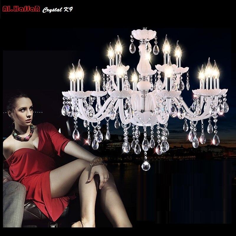 K9 2/4/6/8/10/12/15/18 руки огни белый светодиод свеча хрустальная люстра гостиная свет Винтаж хрустальная люстра E14 свет ...
