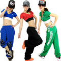 New Fashion Brand Women Clothing hip hop dance short top female Jazz ds costume neon performance wear hiphop T-shirts