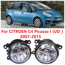 For CITROEN C4 Picasso I (UD_) 2007-2015  10W Fog Light LED DRL Daytime Running Lights Car Styling lamps