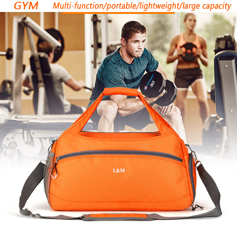 2018 profesional bolsa de gimnasio deportivo para hombres de fitness bolsas  de hombro impermeables con zapatos Stroage bolsa de entrenamiento de  separación ... d4c3ce04d5606