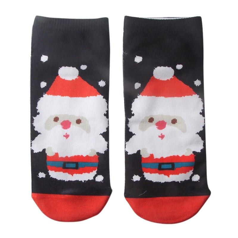 2018 New Women 3D Christmas Socks Unisex Cartoon Elk Snowman Socks Women Low Cut Ankle Christmas Ski Socks