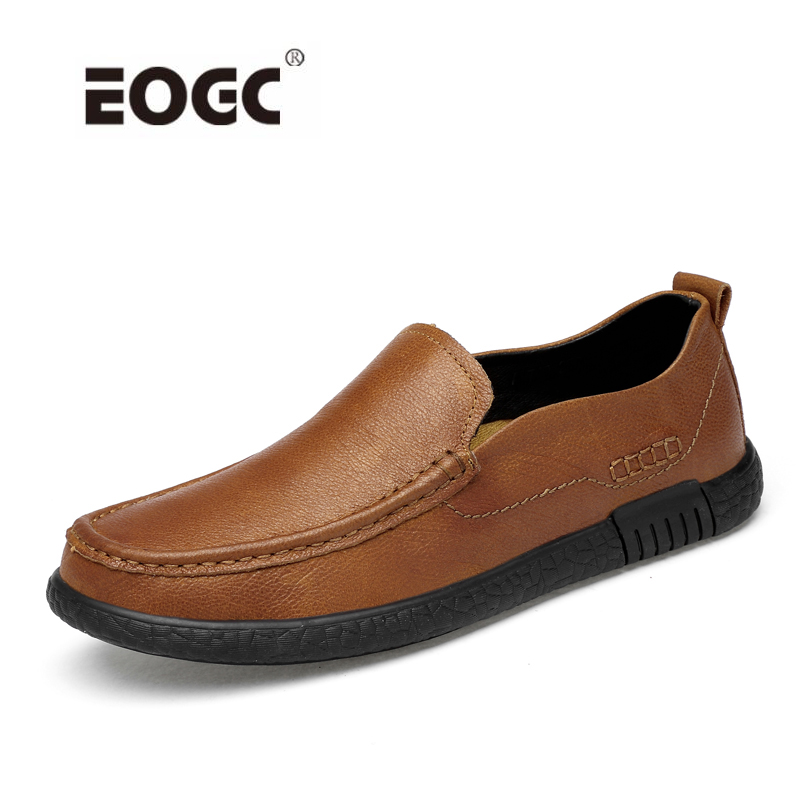 Genuine Leather Men's Casual Shoes Fashion Slip on Loafers Moccasins Male Driving Flats Lightweight Shoes Men handmade genuine leather men s flats casual haap sun brand men loafers comfortable soft driving shoes slip on leather moccasins