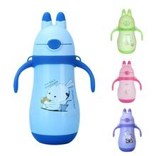 Baby thermos flask feeding cup infant Feeding Drinking Bottles straw cup for kids Garrafa Mamadeira with handle warm bottle D3