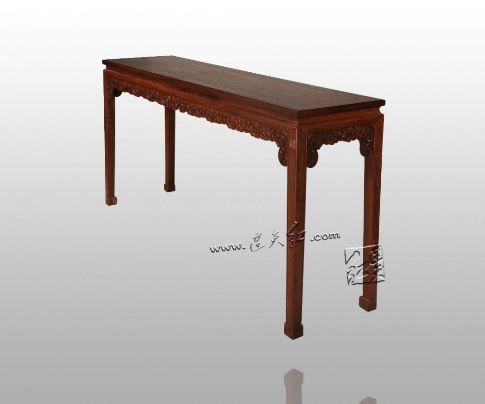 Long Table with Dragon Pattern Chinese Classical Furniture Painting Desk Burma Rosewood Carving Crafts Small Book Case Indoor precise restoration of the palace museum collection chinese classical furniture burma rosewood incense stand carving handicraft