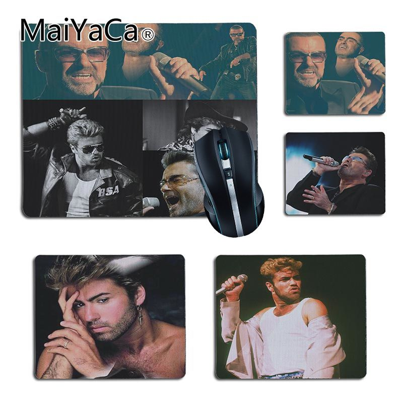 MaiYaCa High Quality George Michael Gamer Speed Mice Retail Small Rubber Mousepad Size 25x29cm 18x22cm Rubber Mousemats