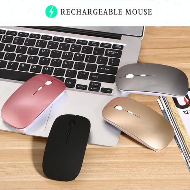 Bluetooth Mouse for Macbook Air Pro,for Win10/Mac Laptop Computer Wireless  Mouse Rechargeable Mute Silent Optical Gaming Mouse-in Mice from Computer &