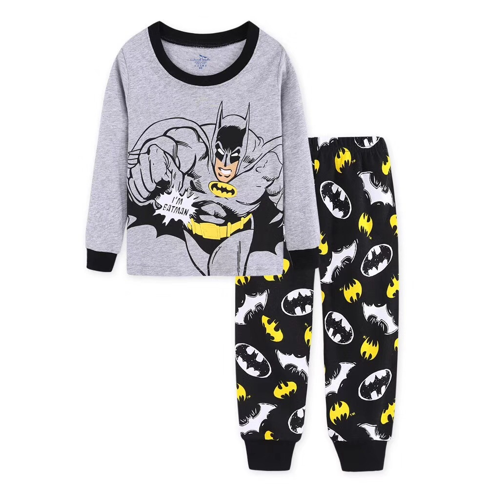 Children Pajamas Set 2019 Boys Sleevewear Cartoon Car Printed Long Sleeve Pyjamas Tops+Pants 2 Pieces Kid Baby Gils CLothing Set