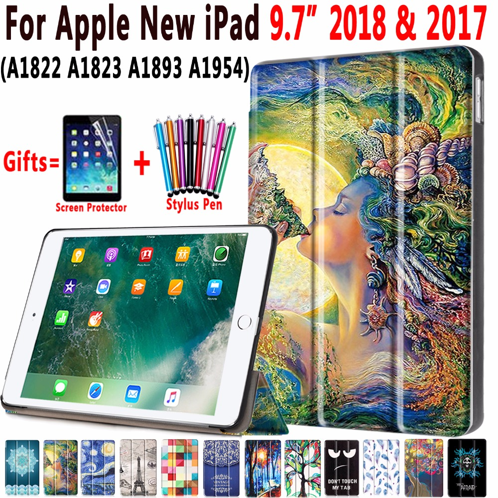 Magnetic Leather Auto Sleep Awake Smart Case Cover For Apple New IPad 9.7 2017 2018 5th 6th Generation A1954 Coque Capa Funda