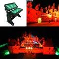 (8 штук/Чехол) стойка для освещения сцены цветной светодиодный светильник для городской подсветки 72x10 Вт rgbw поток света DMX rgbw шайба для наружн...